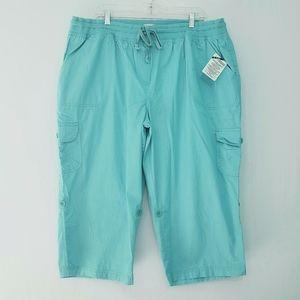 Only Necessities Pull-On Cargo Capri Pants